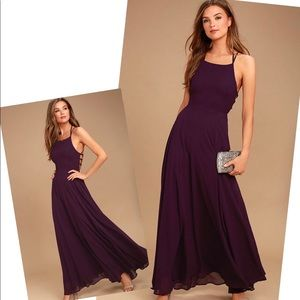 LULU'S STRAPPY TO BE HERE PURPLE MAXI DRESS XS